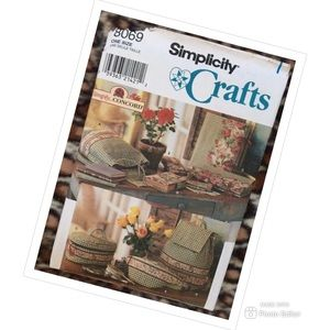 SIMPLICITY CRAFTS SEWING PATTERN PURSE BAG COVERS